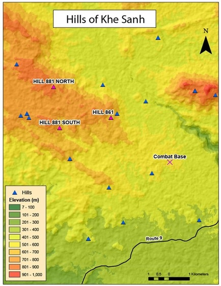 Lai Khe Vietnam Map.Khe Sanh The Significance Of Hills In The Vietnam War